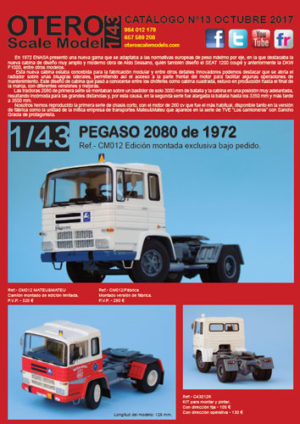 Catalogo Pegaso 2080 Otero scale Model