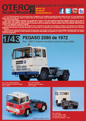 Catalogo Pegaso 2080 Otero scale Model